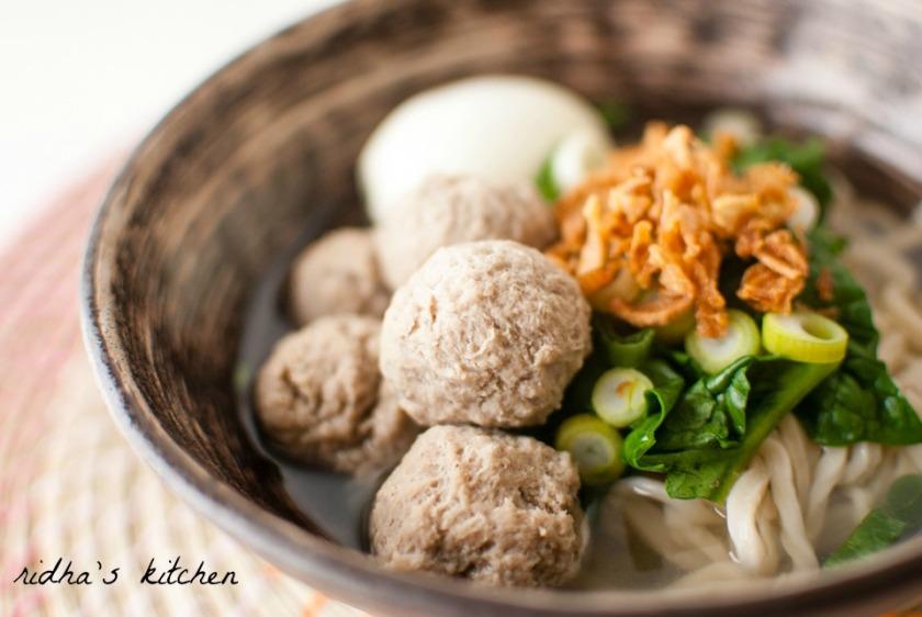 Bakso (Indonesian Meatballs) | Ridha's Kitchen