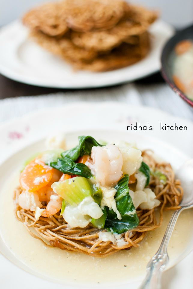 Mie Titi Crunchy Noodle With Seafood And Veggies Ridha S Kitchen