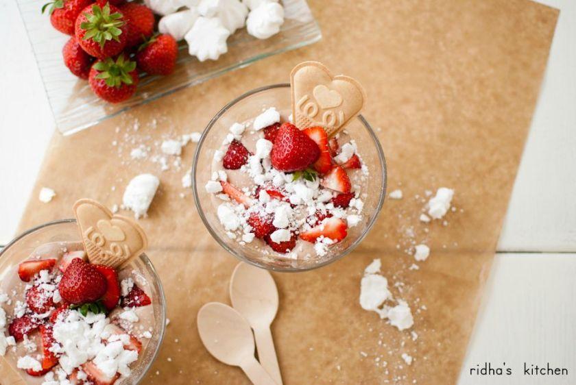 Nutella Cream with Meringue and Strawberry | Ridha's Kitchen