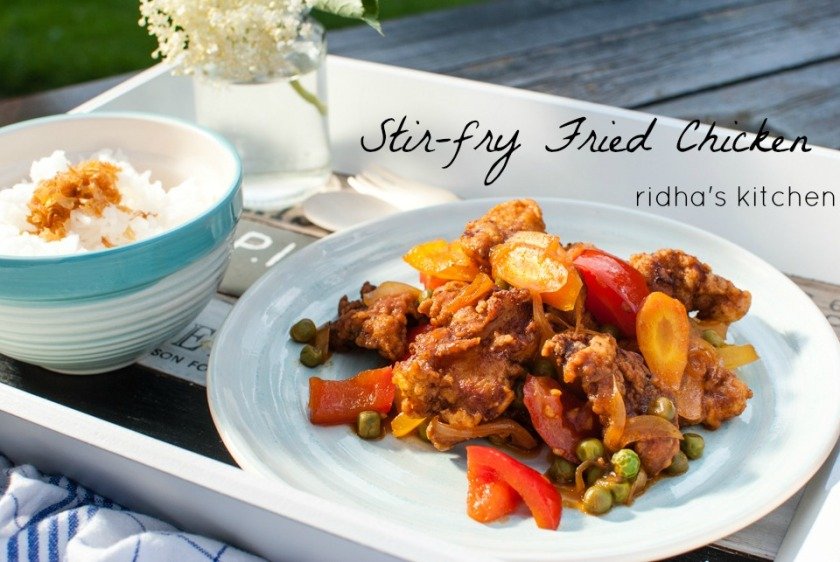 Stir-fry Fried Chicken