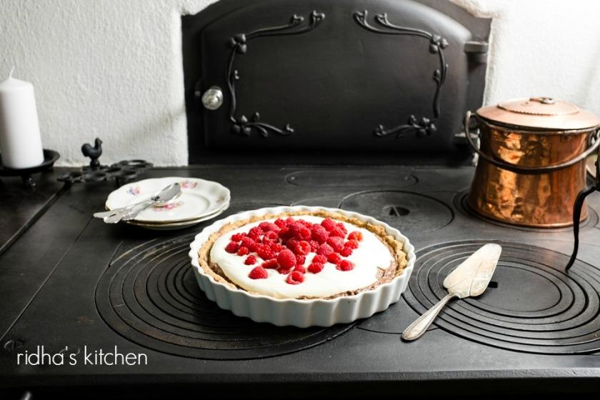 Rasberry chocolate pie